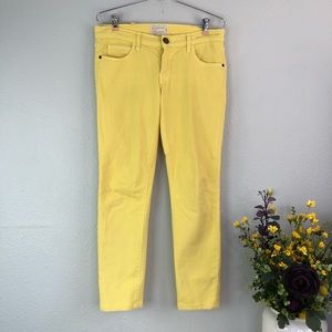 Current Elliot rolled skinny canary yellow ankle